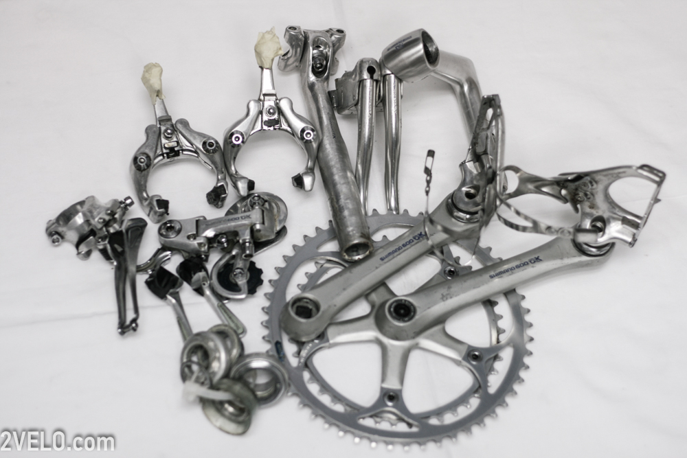 shimano 600 ax complete groupset incuding wheelset