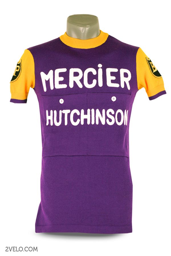 Wool cycling jersey – 2velo- Mercier Hutchinson front