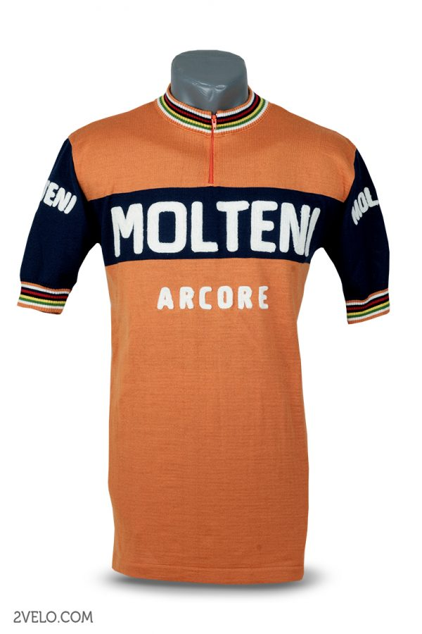 Wool cycling jersey – 2velo- Molteni front