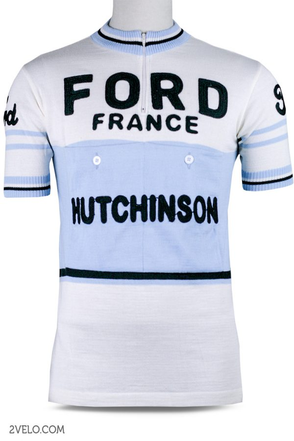 Wool cycling jersey – 2velo- Ford france hutchinson front