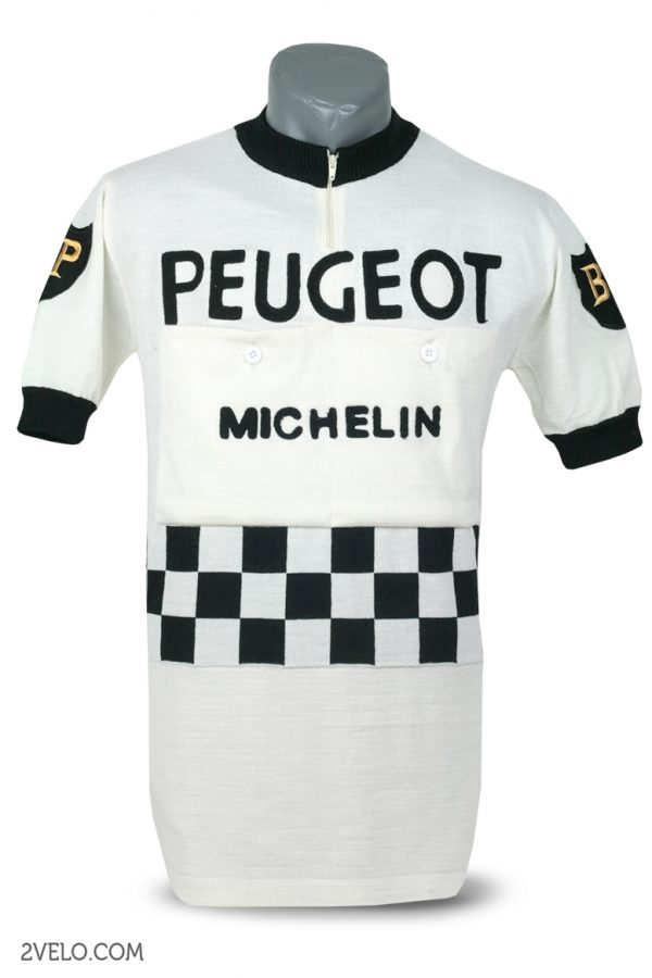 Wool cycling jersey – 2velo- PEUGEOT BP front