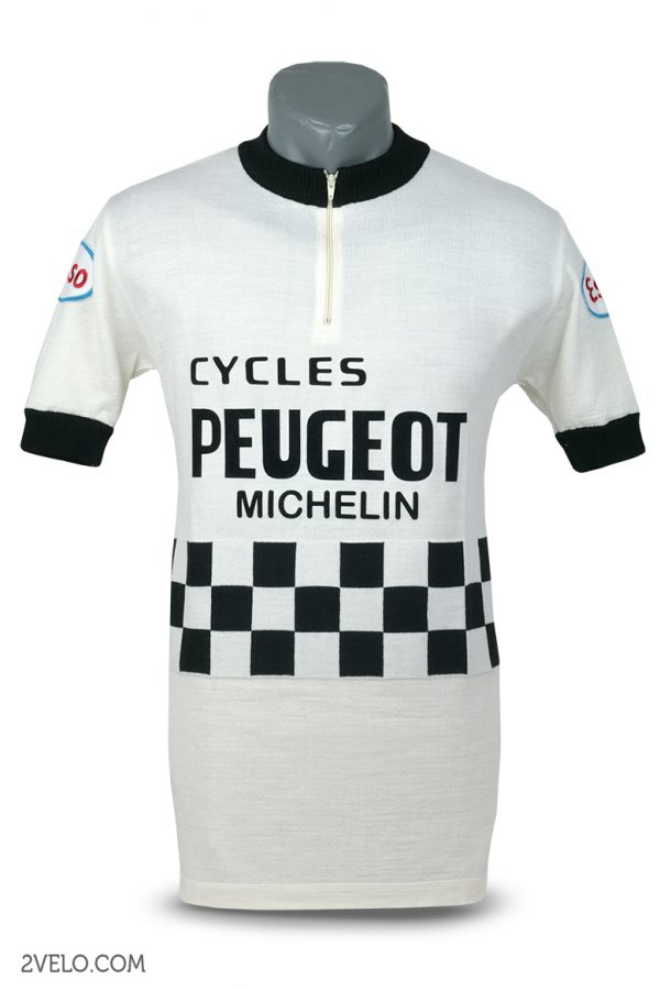 Wool cycling jersey – 2velo- PEUGEOT ESSO front