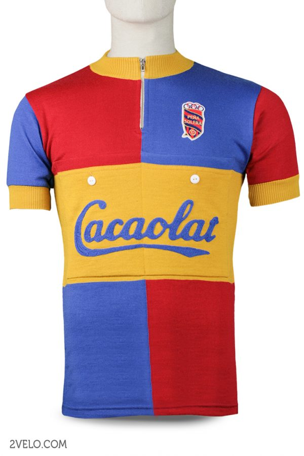 Wool cycling jersey – 2velo- Pena Solera Cacaolat front
